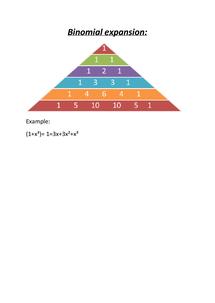Preview of Binomial expansion basics description