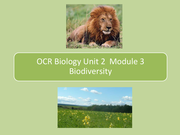 Preview of Biodiversity - OCR Biology AS