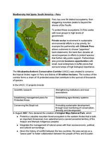 Preview of Biodiversity hotspot : Peru