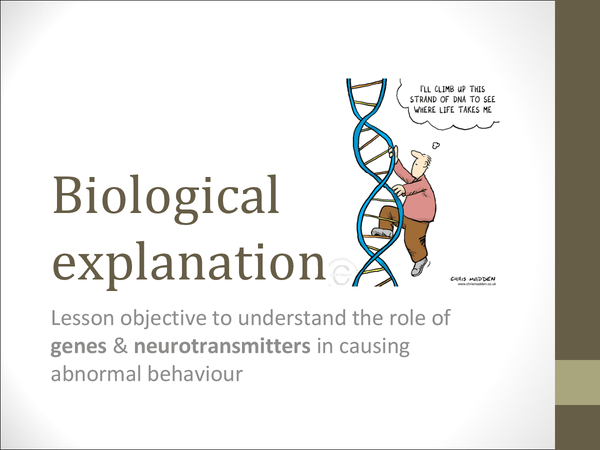 Preview of Biologcial Explanation