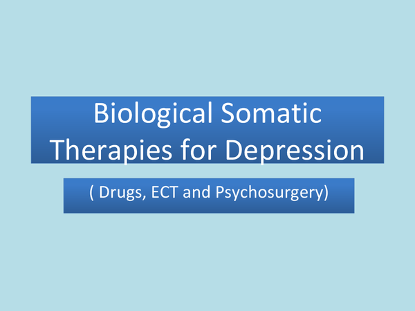 Preview of Biologial Somatic Therapies for Depression
