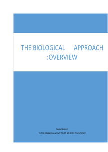 Preview of Biological Approach overview