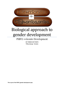 Preview of Biological approach>>gender development