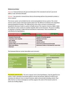 Preview of Biological Psychology PSYA2