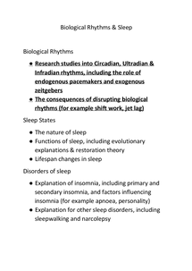 Preview of BIological Rhythms & Zeitgebers