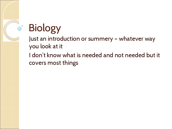 Preview of Biology