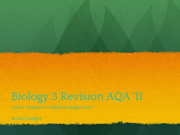 Preview of Biology 3 GCSE AQA