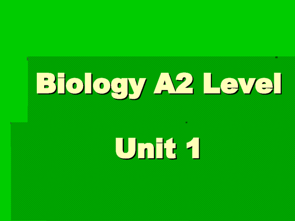 Preview of Biology A2 Level