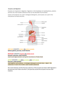 Preview of Biology Additional Science Revision Notes
