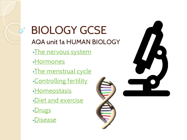 Preview of Biology AQA unit 1a
