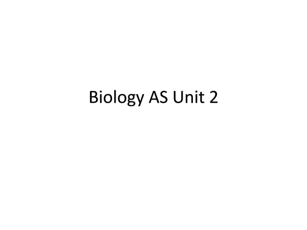 Preview of Biology AS Revision Powerpoint -biodiversity