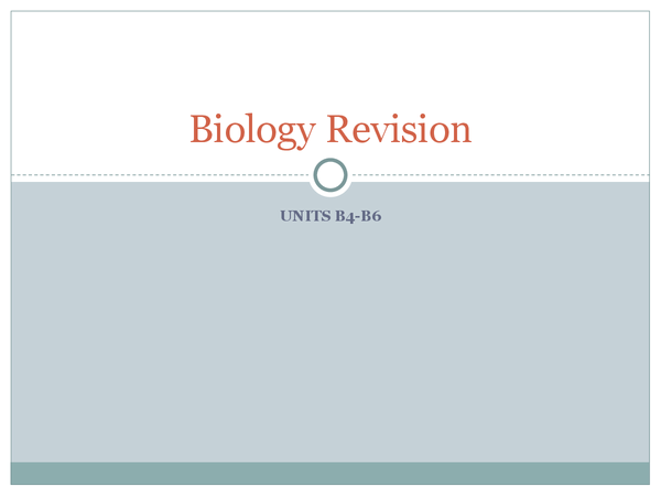 Preview of Biology B4-B6 OCR 21st Century