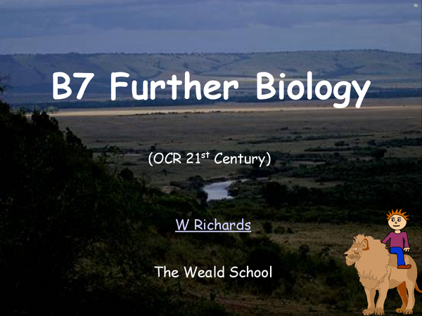Preview of Biology B7 OCR 21st Century Science