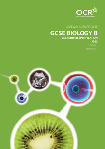 Preview of Biology B Specification - OCR