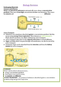 Preview of Biology Further Notes