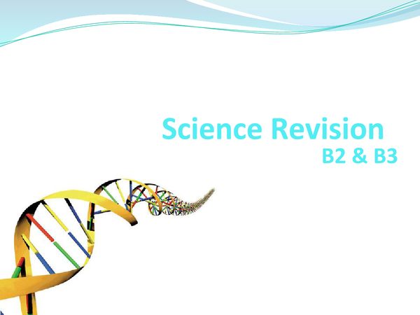 Preview of Biology Revision Notes. (B2 & B3)