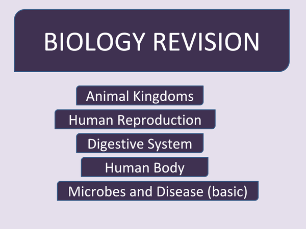 Preview of Biology Revision Year 9