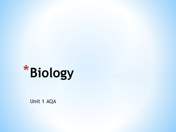 Preview of Biology, unit 1, A level