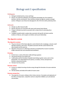 Preview of Biology Unit 1 Specification (AS AQA)