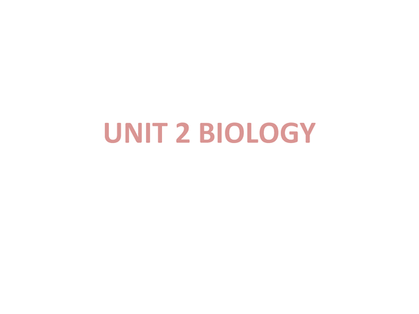 Preview of Biology Unit 2 - Classification