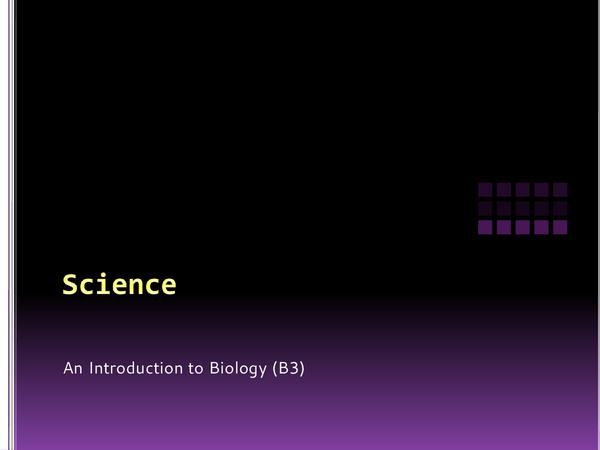 Preview of Biology Unit B3 - GCSE Science
