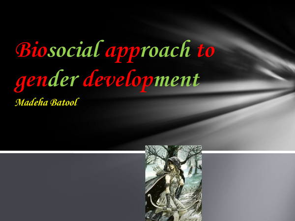 Preview of biosocial approach to gender
