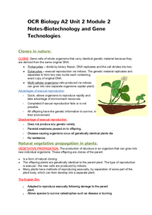 Preview of Biotechnology OCR