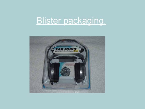 Preview of Blister packaging
