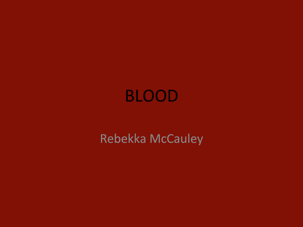 Preview of Blood
