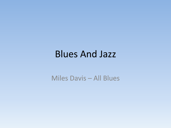 Preview of Blues and Jazz Revision
