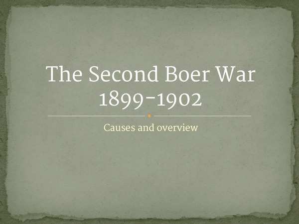 Preview of Boer war