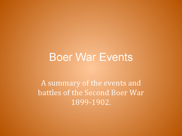 Preview of Boer War: Events & Battles