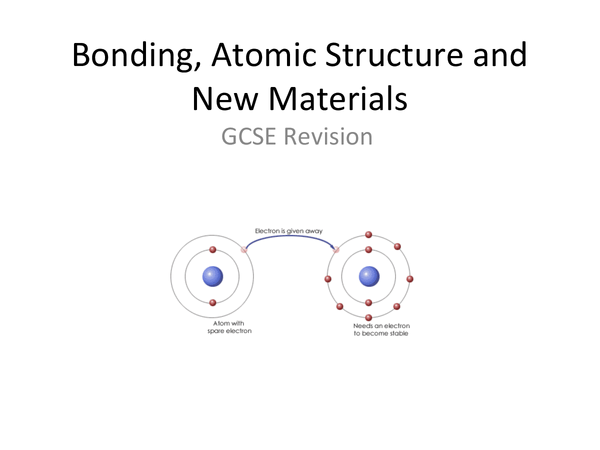 Preview of Bonding, Atomic Structure and New Materials C2 Revision