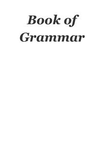 Preview of book of grammar