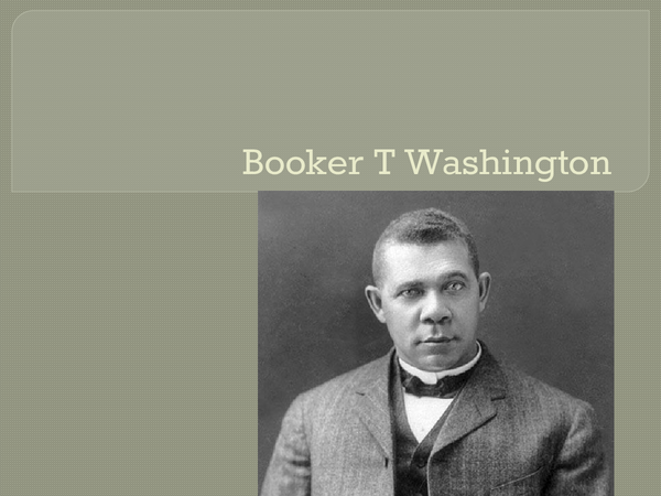 Preview of Booker T Washington