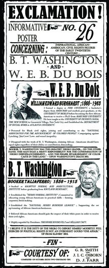 Preview of Booker T Washington and W E B Du Bois