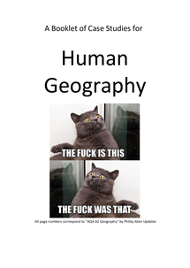 Preview of Booklet of Case Studies for Human Geography