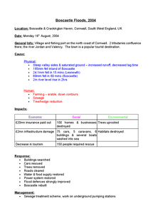 Preview of Boscastle Floods 2004 Case Study