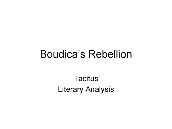 Preview of Boudica's Rebellion questions