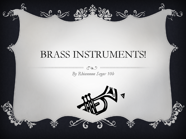 Preview of Brass Instruments PowerPoint