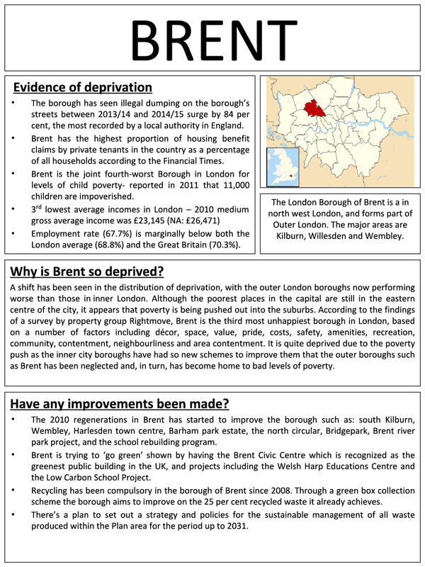 Preview of Brent (Inner City Deprivation)