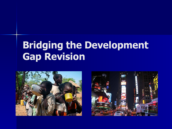 Preview of Bridging the Development Gap