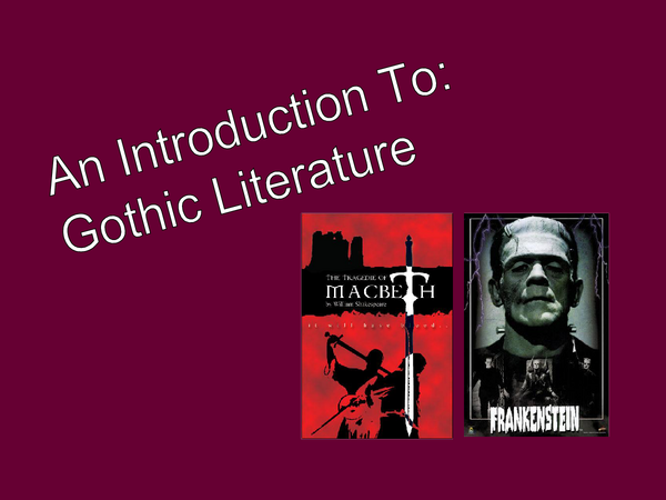 Preview of Brief Intro to Gothic Literature