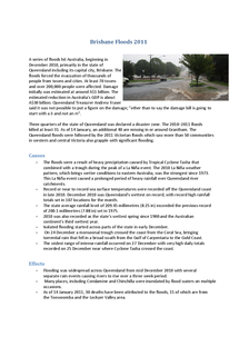 Preview of Brisbane Floods Case Study - Cause and Effects