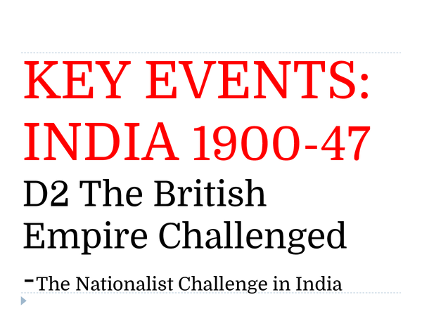 Preview of Britain and the Nationalist Challenge in India