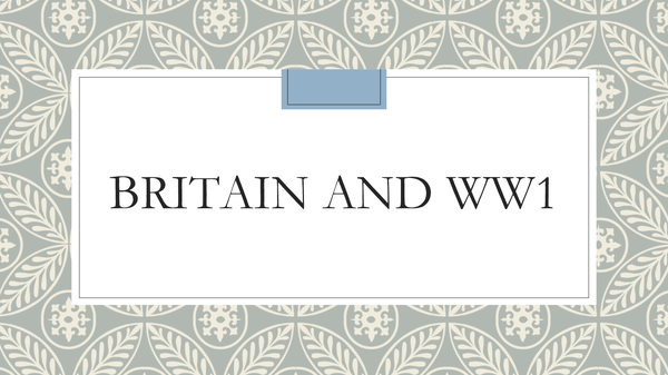 Preview of Britain and WW1 - What happened?