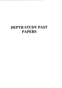 Preview of British Depth 1890 - 1920 ALL PAST PAPERS