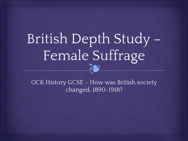 british depth study 1890 1918 Does anybody have any idea which of the three topics is most likely to come up.