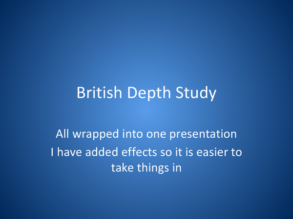 Preview of British Depth Study all in one Presentation