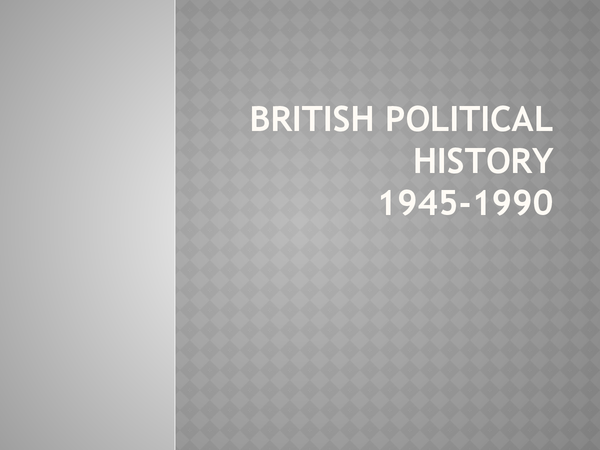 Preview of British Political History